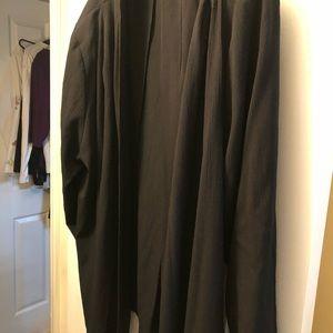 Black open front jacket sz 26